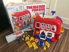 """Vintage Bluebird """"Big Red Bus"""" Playset 1988 100% Complete & Boxed Amazing Toy in Toys & Games, Vintage & Classic Toys, Other Vintage & Classic Toys   eBay"""