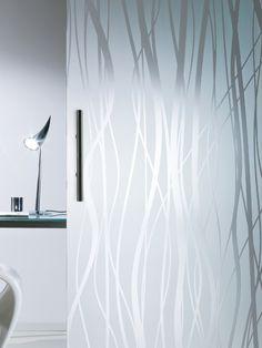 Vetro satinato decorato in lastre per porte e pareti mobili MADRAS® FILI by Vitrealspecchi
