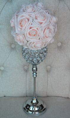 BLUSH rosa flor bola Pomander besos bola de la por KimeeKouture