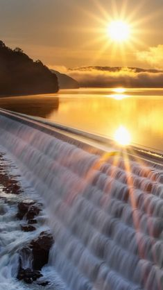 The beauty of a sunset turning water into liquid gold.
