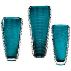 Cyan Design Large Dollie Vase in Glass Material with Cyan Blue finish - 4783