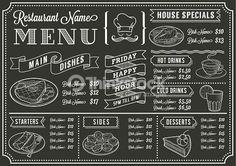 Vektorgrafik : Chalkboard Restaurant Menu Template