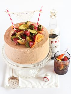 PIMM'S Cake. Awesome.