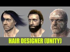 Hair Design Criação de Cabelos e Pelos dentro da Unity - YouTube Unity Games, Unity 3d, Unity Game Development, Unity Tutorials, Modeling Tips, Zbrush, Hair Designs, Game Design, Programming