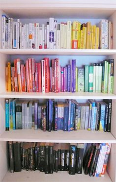 Books Arranged By Color Casa Abbodanza Pinterest Bookcase Styling Reading Nooks And Rooms
