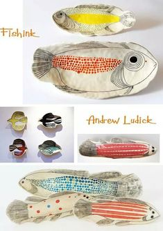 Ceramic Fish Plates - Ideas on Foter plate designs plate sets plate plate presentation dinner plate plate on wall photography Ceramic Clay, Ceramic Plates, Ceramic Pottery, Pottery Art, Fish Plate, Pottery Classes, Paperclay, Pottery Designs, Clay Projects