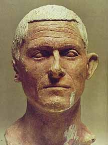 Etruscan Head of a Man from the Votive Deposit of Manganello, Cerveteri, 100 B.C.