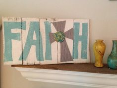 Faith pallet wood sign by NCRDesign on Etsy, $25.00