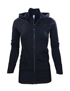 Women's Athletic Hoodies - Lululemon Womens Black Daily Practice Jacket *** Click image to review more details.