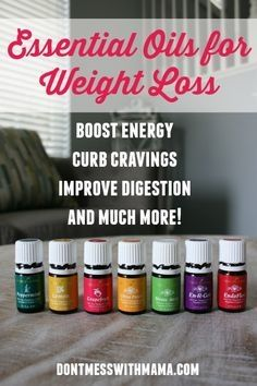 Essential Oils for Weight Loss - Curb Cravings and Boost Energy #weight #essentialoils #energy - http://DontMesswithMama.com #weightlosstips