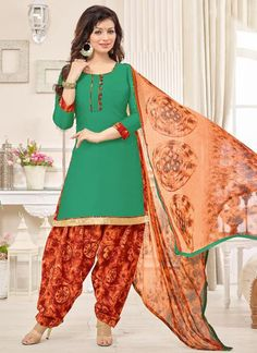 green-glace-cotton-casual-wear-printed-patiala-suit