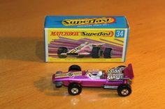 F1 racing car  purple  MB34