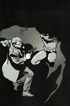 """""""Batman: Year One"""" comic book story arc / graphic novel by Frank Miller and David Mazzucchelli, originally appearing in Batman issues published by DC Comics) Dc Comics, Comics For Sale, Batman Comics, Batman Year One, Im Batman, Best Comic Books, Comic Books Art, Book Art, Gotham City"""