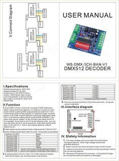 DMX-3CH-BAN-V1 3CH Channel DMX 512 LED Decoder Controller for LED Strip Light Sale - Banggood.com