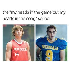 archie tryna be troy bolton soo bad #riverdale #archieandrews #troybolton