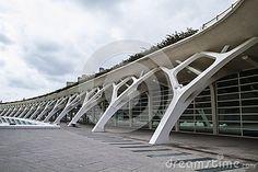 Música del palacio, arquitectura moderna del museo en la ciudad española de