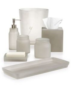 Attirant Martha Stewart Collection Frosted Cobblestone Bath Accessories, Only At  Macyu0027s | Macys.com