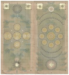 Atomic Garden  graphite, colored pencil, ink, and gold leaf on antique ledger book paper. 13.5 x12.25 inches  All images © Louise Despont
