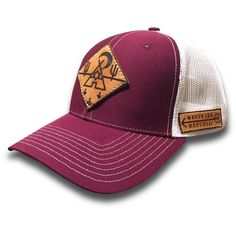 The Mojave II. Unique Handmade Leather Patch Design. Comfortable fit Outdoor Inspired Style Adjustable Snapback - one size fits most (adult sizes) JOIN THE REPUBLIC, WEAR WESTWARD.