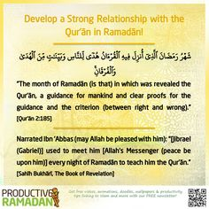 Remain consistent in your recitation, ponder over the verses, and memorize as many Ayat as you can. Love, Learn, & Live the Quran this Ramadan! Don't forget to let others know how you were #TransformedByTheQuran! Share your story with us here: http://proms.ly/Ramadan-challenge-2016