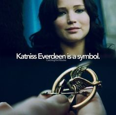 The Hunger Games~Catching Fire~Mocking Jay. Katniss Everdeen. The main symbol..