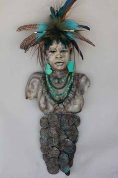 African Peace Warrior - Handcrafted Clay Sculpture