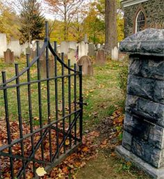 Sleepy Hollow Cemetery at the Old Dutch Church in Sleepy Hollow, NY - Washington Irving is buried here.