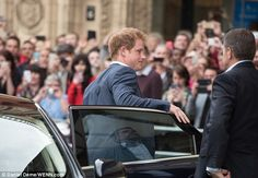 Hundreds of royal fans were waiting outside the London event space to catch a glimpse of t...