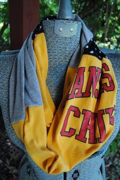 Kansas City Chiefs Upcycled T-Shirt Infinity Scarf | Kansas City ...