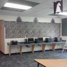 Castle theme classroom.  Create a scene plastic party supplies.