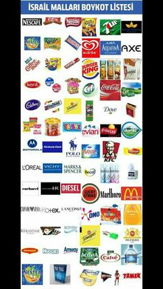 Boycott israel these products are supporting Israel and supplying weapons to kill innocent civilians and children