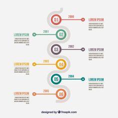 infographique Minimaliste avec un calendrier Vecteur gratuit