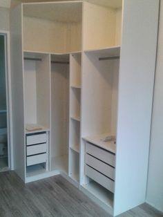 Ideia para o guarda roupa e mobília do quarto...