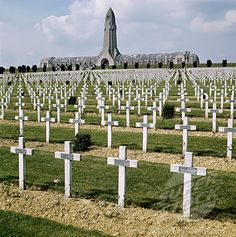 Fort Douamont in Verdun France. WW1 battlefield and memorial.