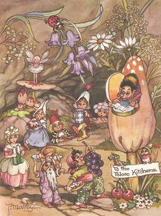 Peg Maltby: To the palace kitchens Vintage Fairies, Vintage Art, Canvas Light Art, Fairy Paintings, Mushroom Art, Fairytale Art, Fairy Art, Illustration Art, Book Illustrations