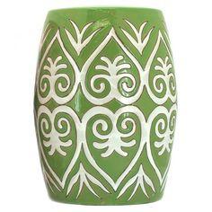 Green Paradise Ceramic Stool