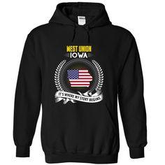 Born in WEST UNION IOWA T-Shirts, Hoodies. GET IT ==► https://www.sunfrog.com/States/Born-in-WEST-UNION-2DIOWA-V01-Black-Hoodie.html?id=41382