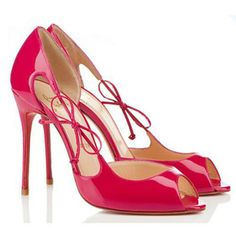 Christian Louboutin Delico 100mm Patent Leather Rose Matador