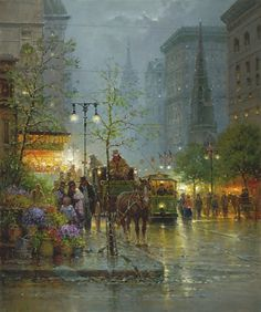 Vendors on Fifth Avenue by G. Harvey