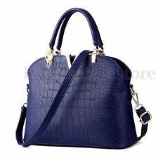 Women Crocodile Handbag Shoulder Bag PU Leather Messenger Satchel Tote Purse NEW