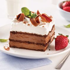 Mousse au chocolat et Bailey's - 5 ingredients 15 minutes Napoleons Recipe, Biscuits Graham, Desserts With Biscuits, Cupcake Frosting, Cold Meals, Chocolate Recipes, Gourmet Recipes, Vanilla Cake, Food Print