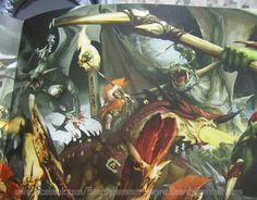 http://wellofeternitypl.blogspot.com/ Age of Sigmar Artwork   Fyreslayers vs Ogors / Orcs #art #artwork #artworks #warhammer #aos #ageofsigmar #pictures #fantasy #gw #gamesworkshop #wellofeternity #miniatures #wargaming #hobby