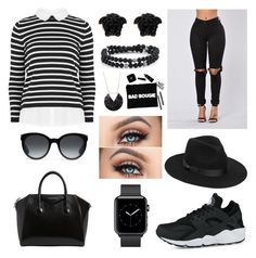 """""""First Night In Houston •"""" by myalariee15 ❤ liked on Polyvore featuring Lack of Color, Givenchy, NIKE, Gucci and Versace"""