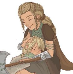 Little Astrid and her mother. :)