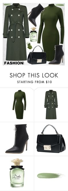 """""""Green dress"""" by diamond-mara ❤ liked on Polyvore featuring Dolce&Gabbana"""