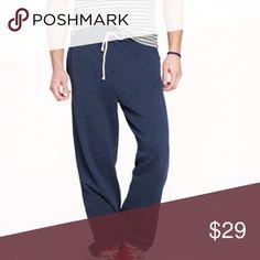 JCrew Navy Sweatpants - Great Condition - M Navy Sweatpants - Big Front Pockets - Cool Design - Great Condition - Barely Worn - Size Medium J. Crew Pants Sweatpants & Joggers