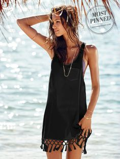 Island vibes guaranteed. | Victoria's Secret Tassel Cover-Up