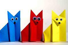 Оригами для детей. Лисичка оригами. Оригами из бумаги видео уроки.