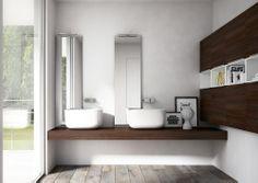 Mobili con lavabo: Composizione My Time 08 da Idea | Collezione: My Time | Anno: 2014 | Materiali: Laccato | #salonedelmobilemilano #design #isaloni #salonedelmobile #salonebagno #MilanoDesignWeek14 |