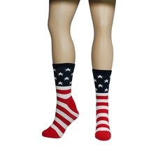 USA Flag Socks - American Flag Socks are perfect for the patriotic hearts! Merica!  | Independence Day | Veteran's Day | FunSlurp